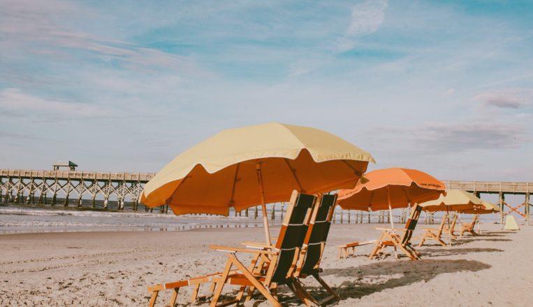 Beach Chairs on Folly Beach